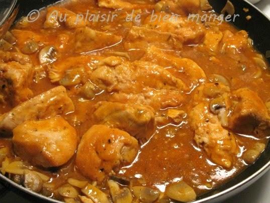 Au plaisir de bien manger poulet marengo - Poulet marengo recette ...