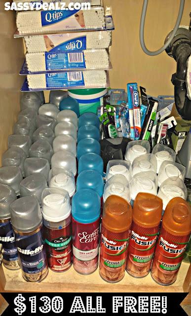 shaving cream toothbrush couponing stockpile