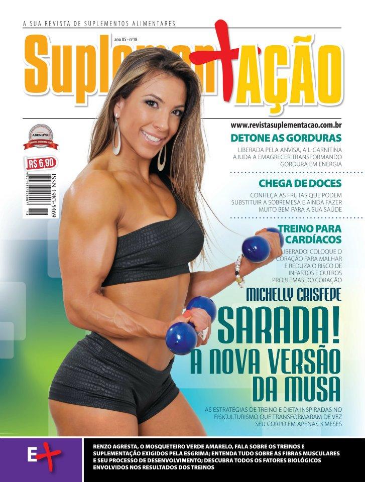 Michelly Crisfepe, capa da edição de número 18 da revista Suplementação