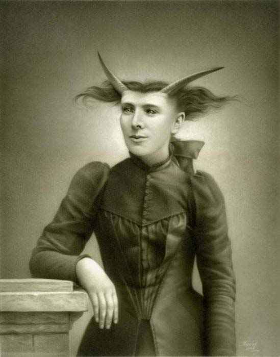 surreal vintage photo