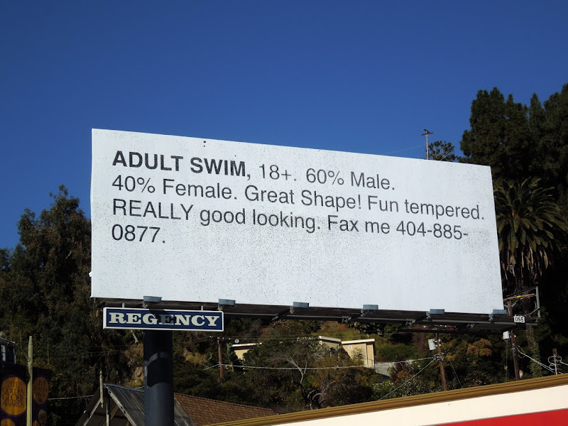 Fax Me Adult Swim billboard