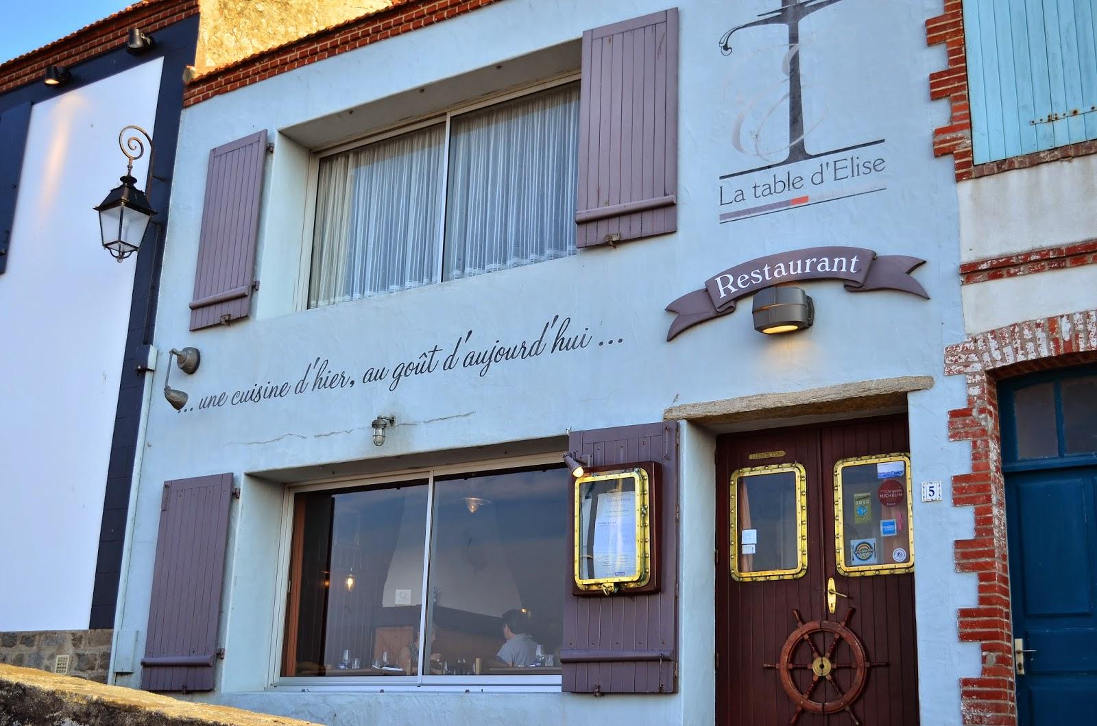 Hedofoodia la table d 39 elise noirmoutier en l 39 le - Restaurant la marine noirmoutier ...