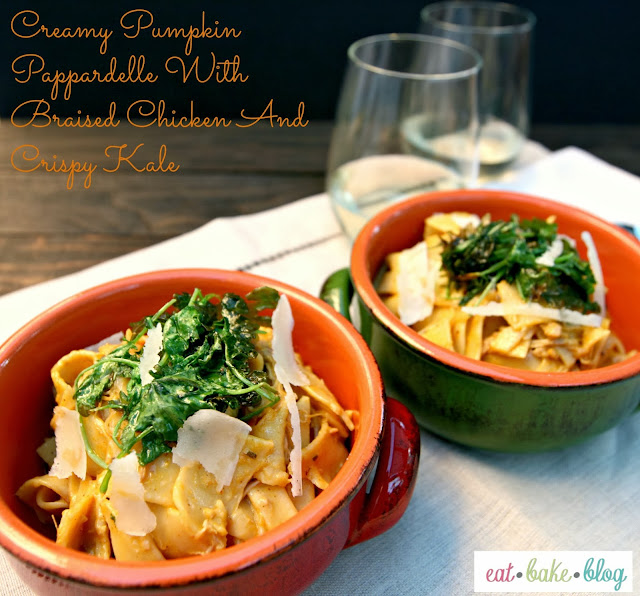 ... creamy braised chicken pappardelle with creamy creamy braised chicken