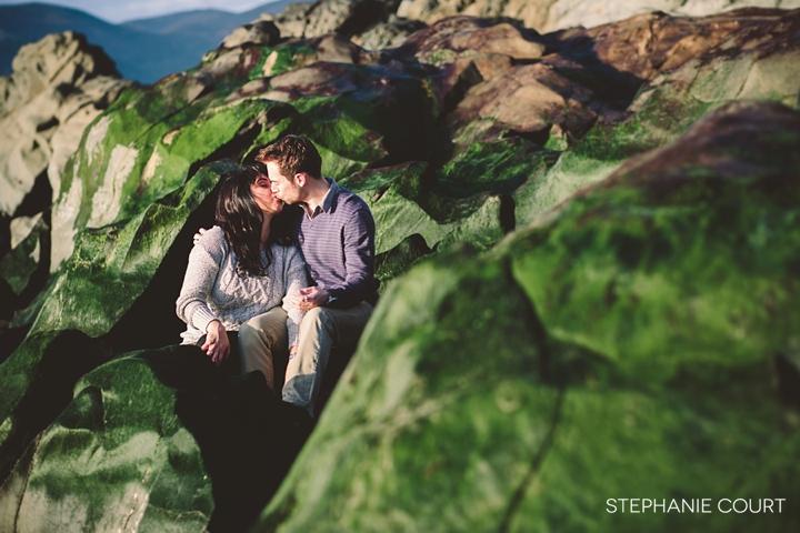 engagement photos at baker beach
