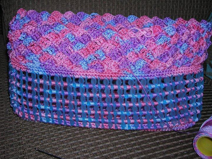 Puntadas de bolsas tejidas con fichas - Imagui