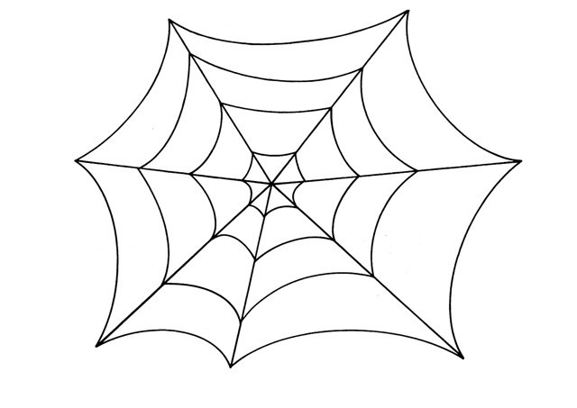 Tela de araña para colorear - Imagui