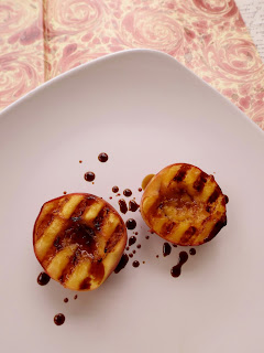 Grilling stone fruit with Italian Aceto Balsamico recipe on Gift Style Blog Gave That