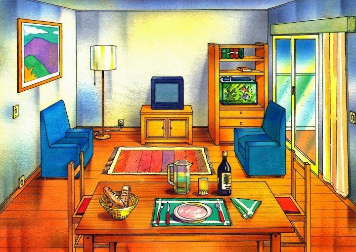 El profe y su clase de pt l minas para trabajar la for Living room y sus partes