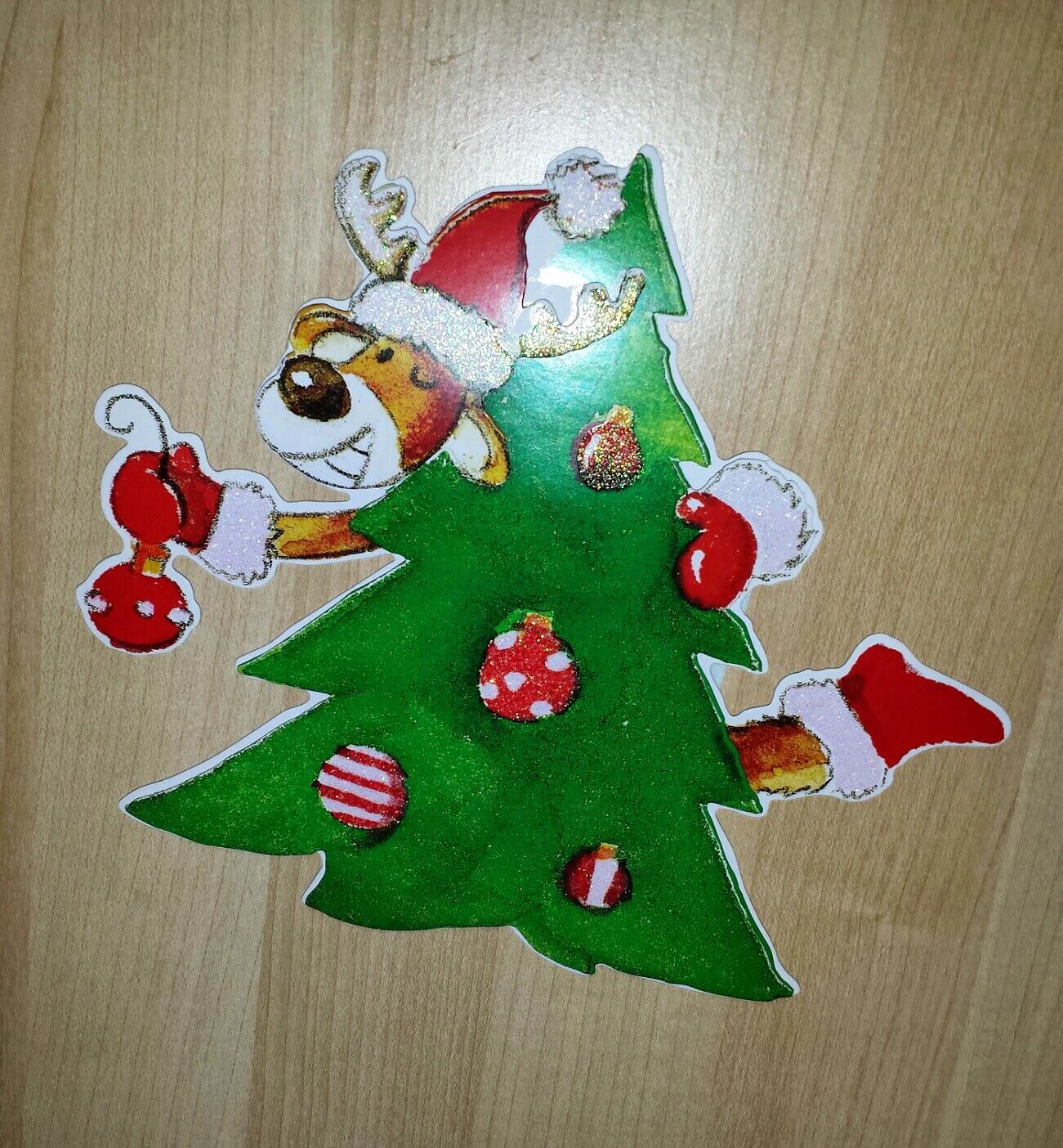 Weihnachtsdeko, Elch und Tannenbaum