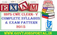 IBPS Clerk - V Syllabus 2015