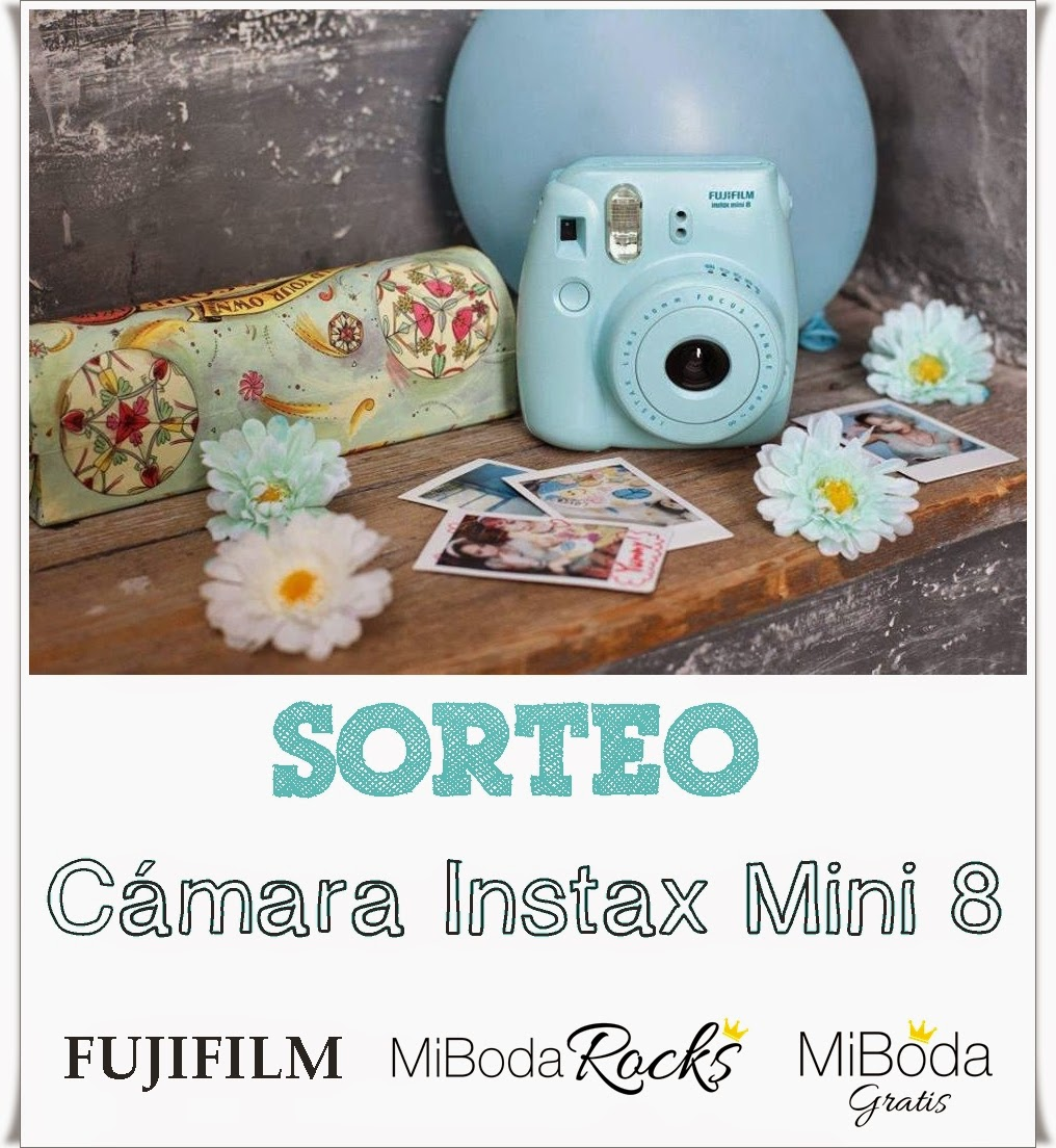 sorteo cámara fotos instax mini 8 fujifilm #instaxday madrid blog bodas