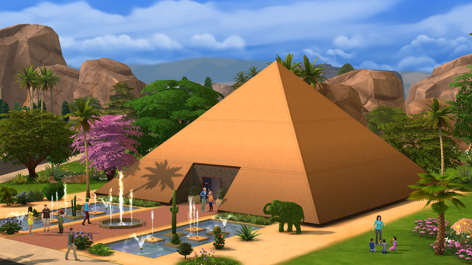 screenshots showing the weird and wonderful world of the sims 4