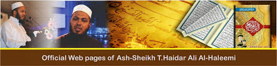 Official Web Pages of Ash-Sheikh T.Haidar Ali Al-Haleemi