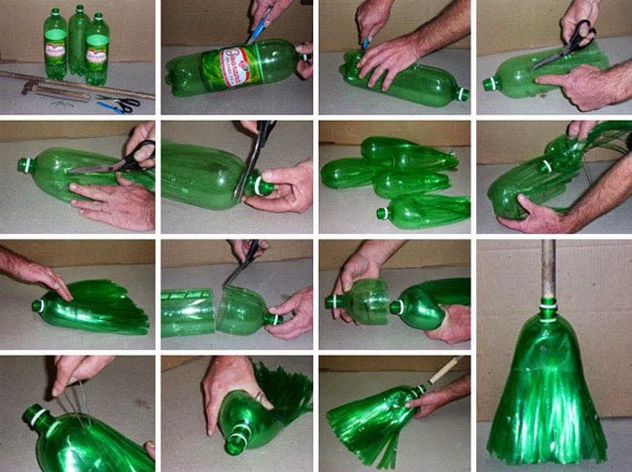 DIY: Escoba con botella de plástico reciclada