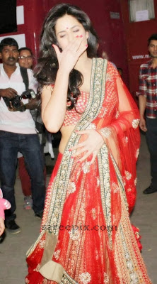 Katrina kaif in bridal lehenga at Mehboob studios