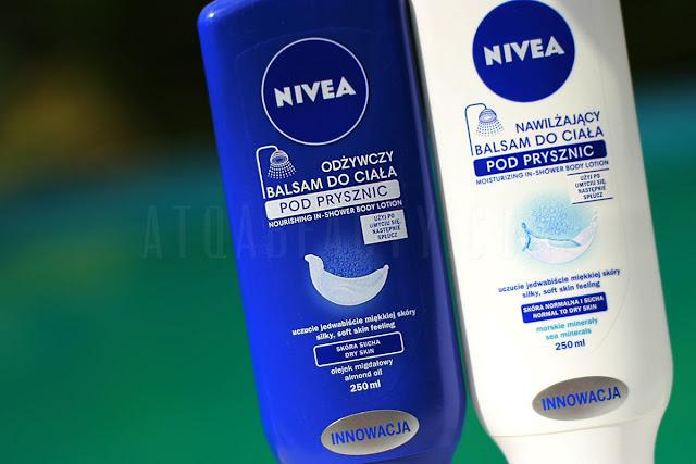 balsamy pod prysznic Nivea