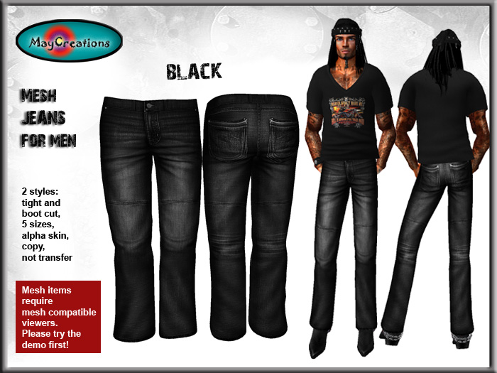 Second life male clothing templates mesh jeans for men second