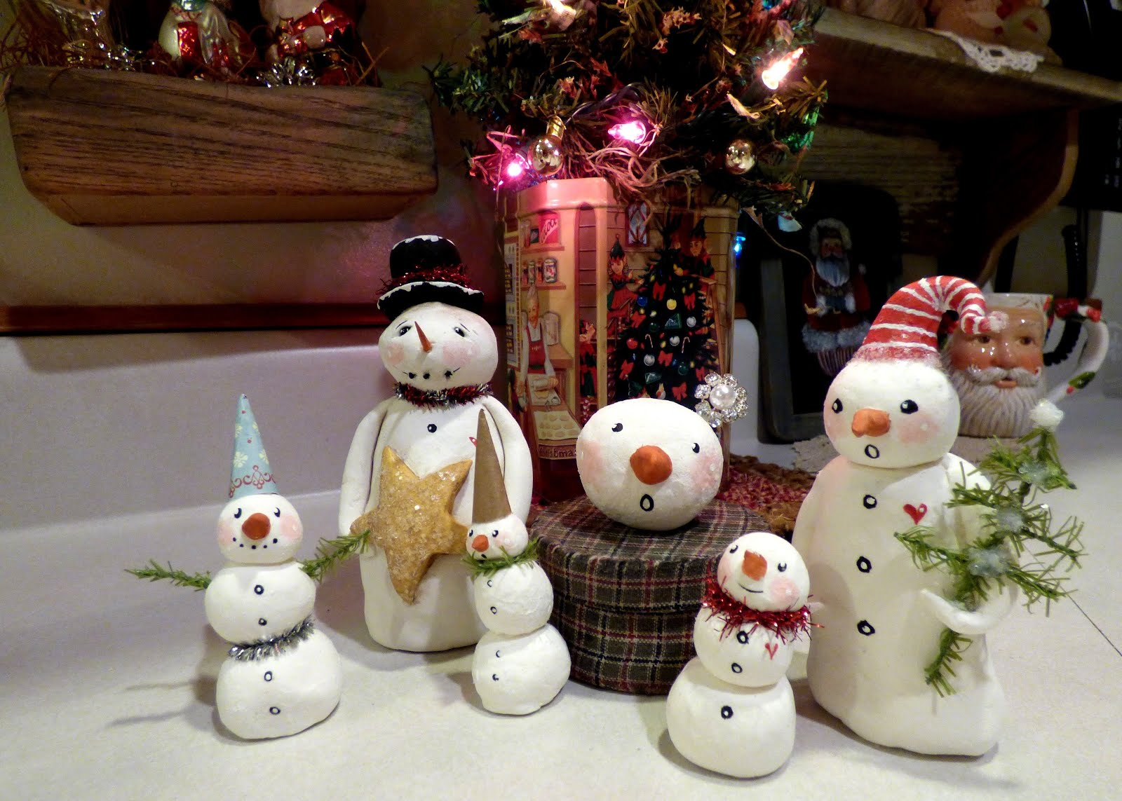 Finished snowmen