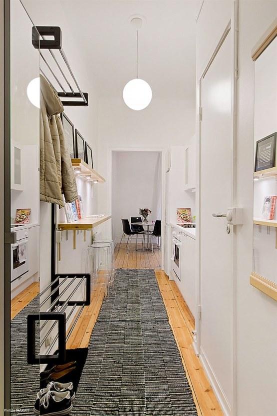 Una pizca de hogar soluciones para recibidores peque os - Cocinas abiertas al pasillo ...