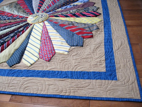 The Plumed Nest: Memory Quilt {it's on my to-do list} : quilt made of ties - Adamdwight.com