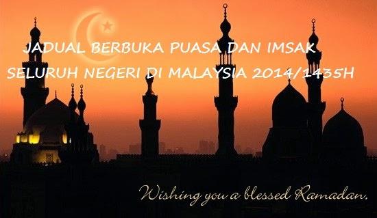 Jadual Berbuka Puasa | Applikasi Terkini | Ramadhan | Shaklee | Sg. Buloh | Setiawangsa