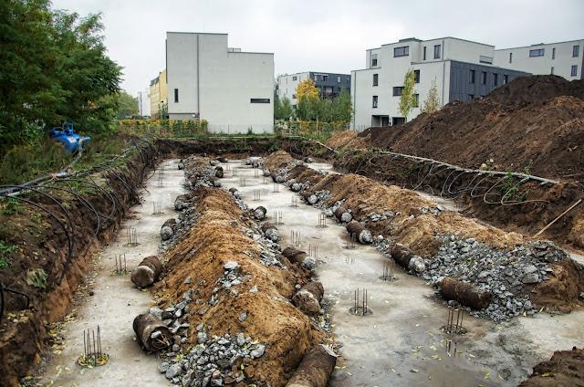 Baustelle River Residences Family Housing Urban Living, Dora-Benjamin-Park, Glasbläserallee, 10245 Berlin, 12.10.2013