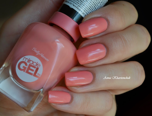 Sally Hansen Miracle Gel #180 Rosey Riviter и стемпинг MoYou