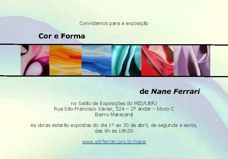 Convite para exposição Cor e Forma