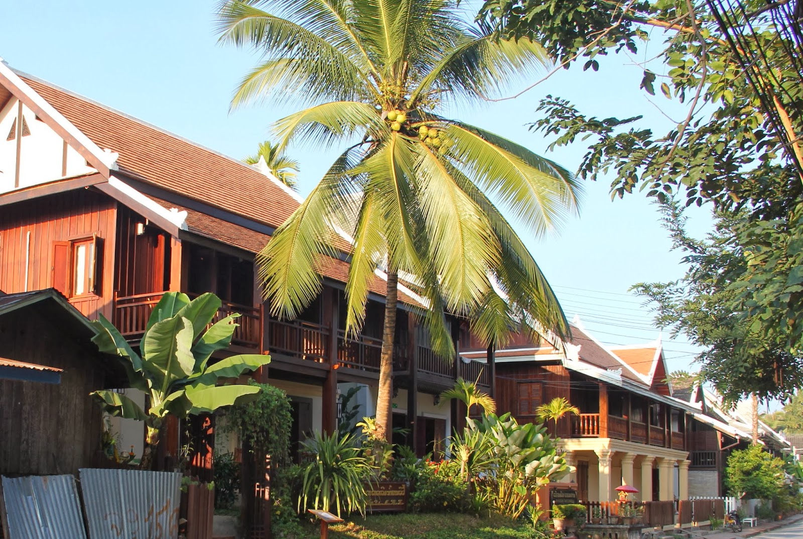 Charming French Colonial-style houses in Luang Prabang