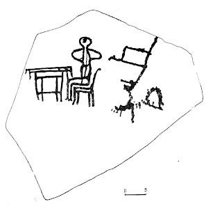 Рисунки человека за столом