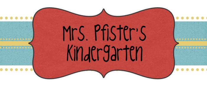 Mrs. Pfister's Kindergarten
