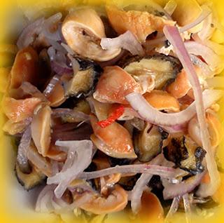 Ceviche de lapas a la arequipeña