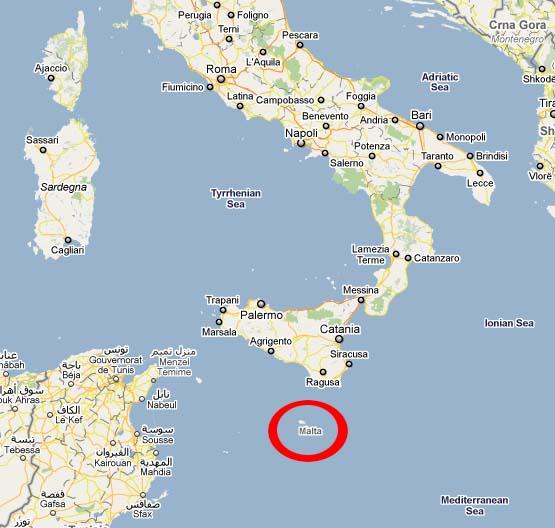 Austria Malta Adventures Malta on the Map