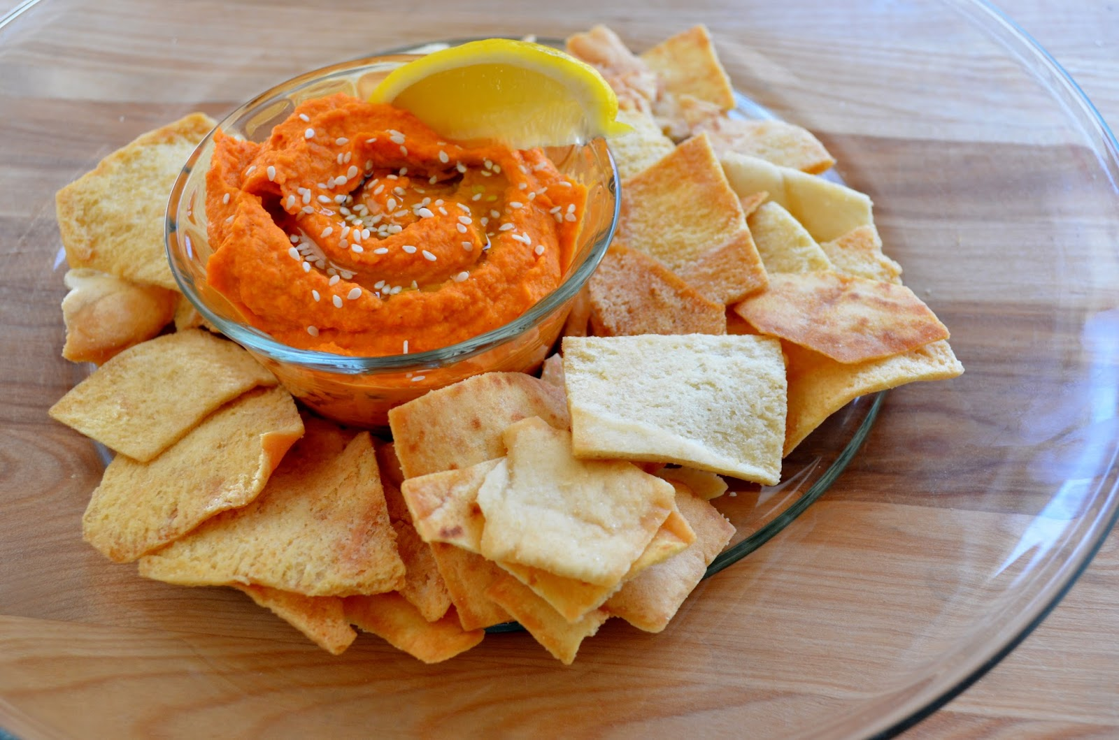 Basil: Roasted Garlic and Red Pepper Hummus