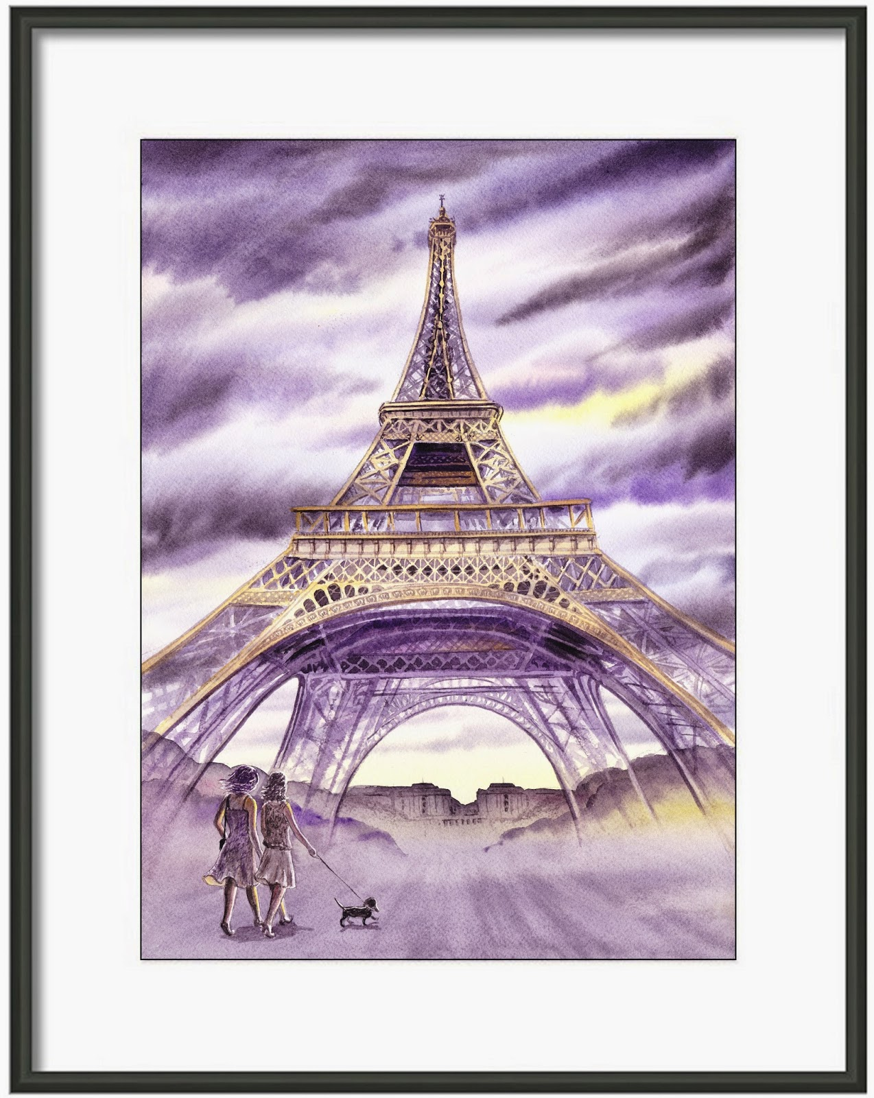 evening Paris painting