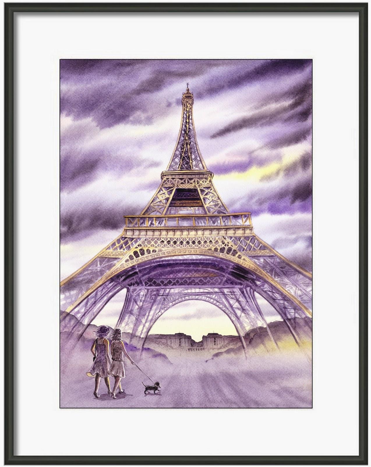 evening Paris painting