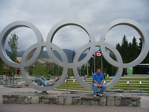 Olympic rings Whistler Vancouver 2012