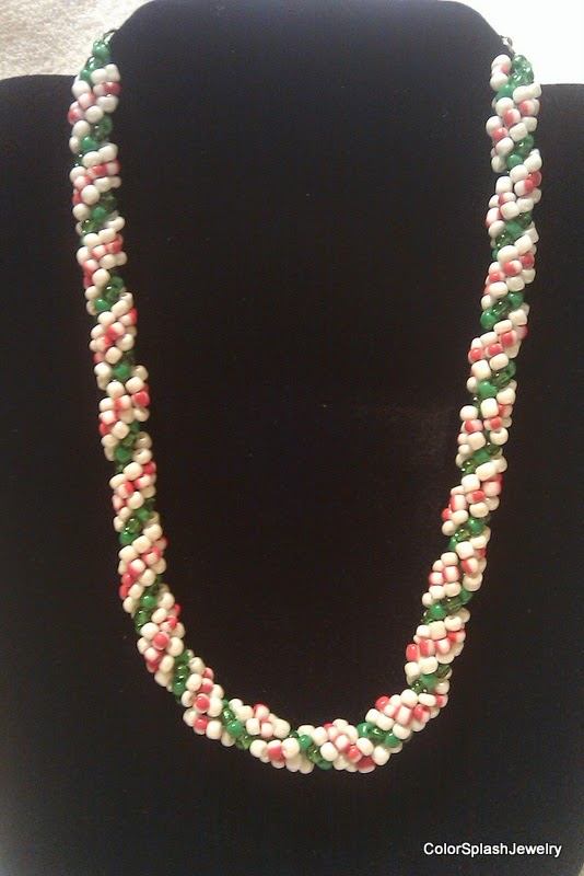 Candy Cane Jewelry Candy Cane Spiral Rope