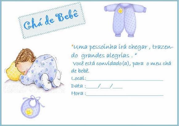 Convite para chá de bebê para imprimir 10