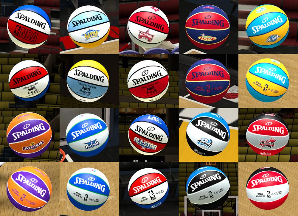 NBA 2K13 Spalding All-Star Basketball Mod