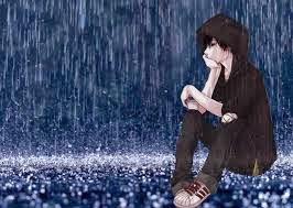 Gambar Kartun Sedih Anime Galau Hujan Rintik