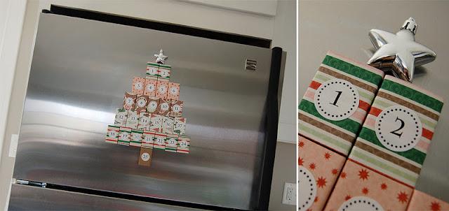Self Made Advent Calendar : Crafty teacher lady magnetic matchbox advent calendar