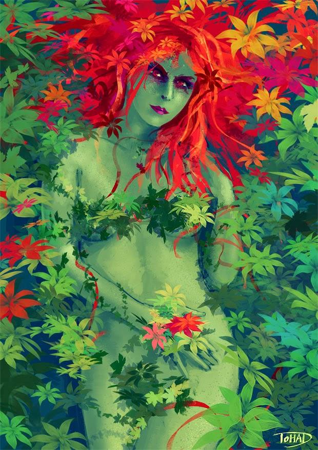illustration de Sylvain «Tohad» Sarrailh représentant poison ivy