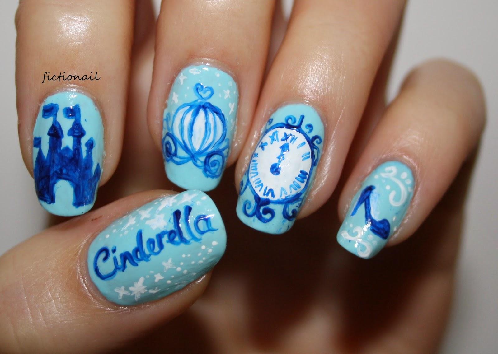 Disney Cinderella Nail Art