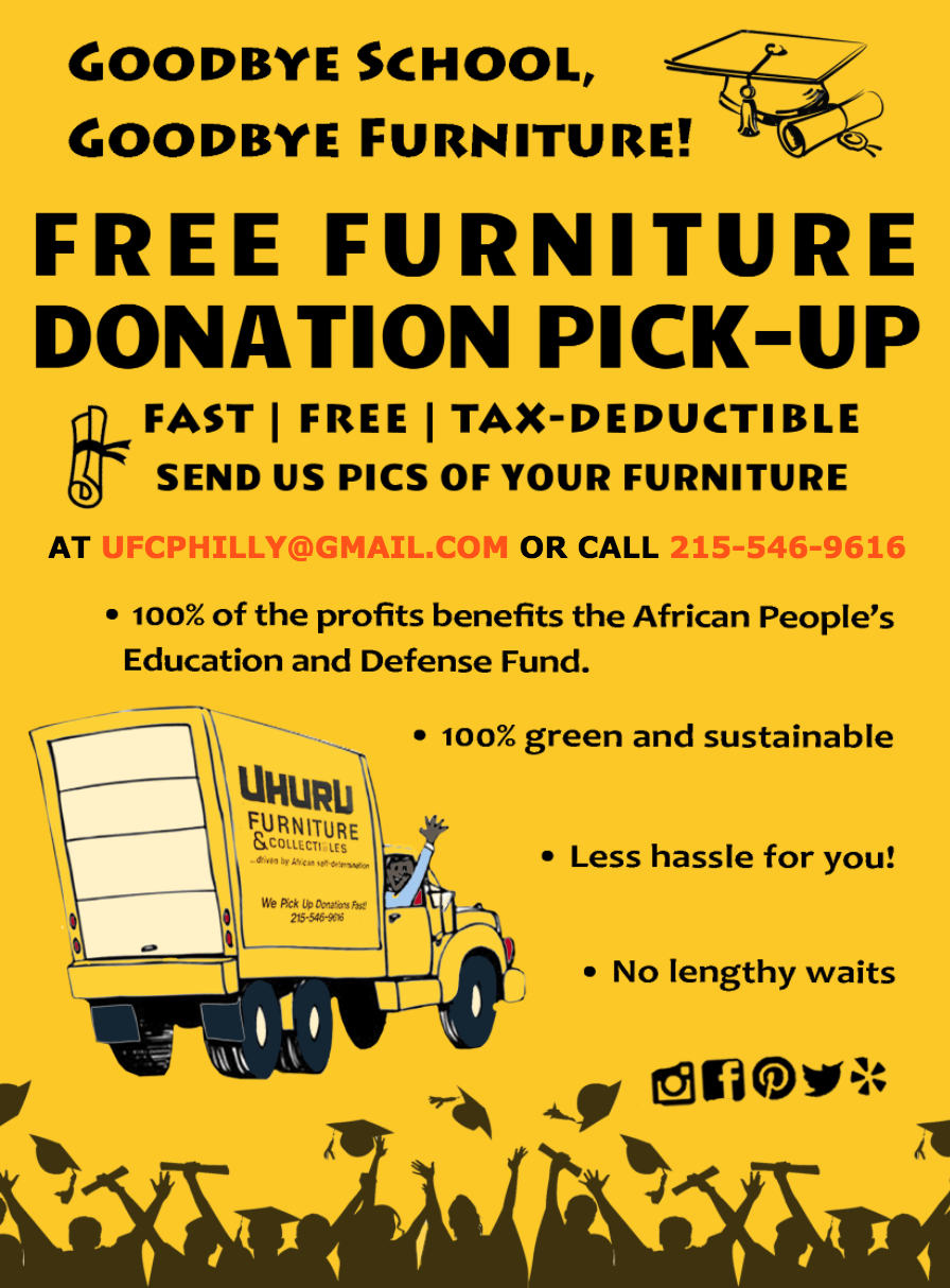 Uhuru furniture collectibles for Furniture donation pickup seattle