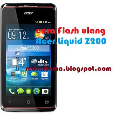 Cara Flash Acer Liquid Z200
