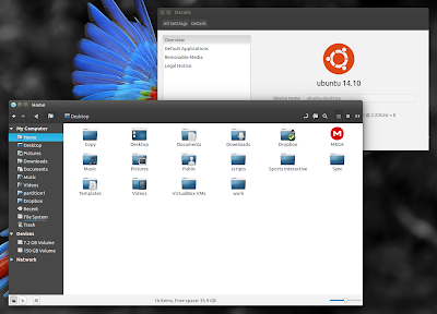 Nemo file manager Unity