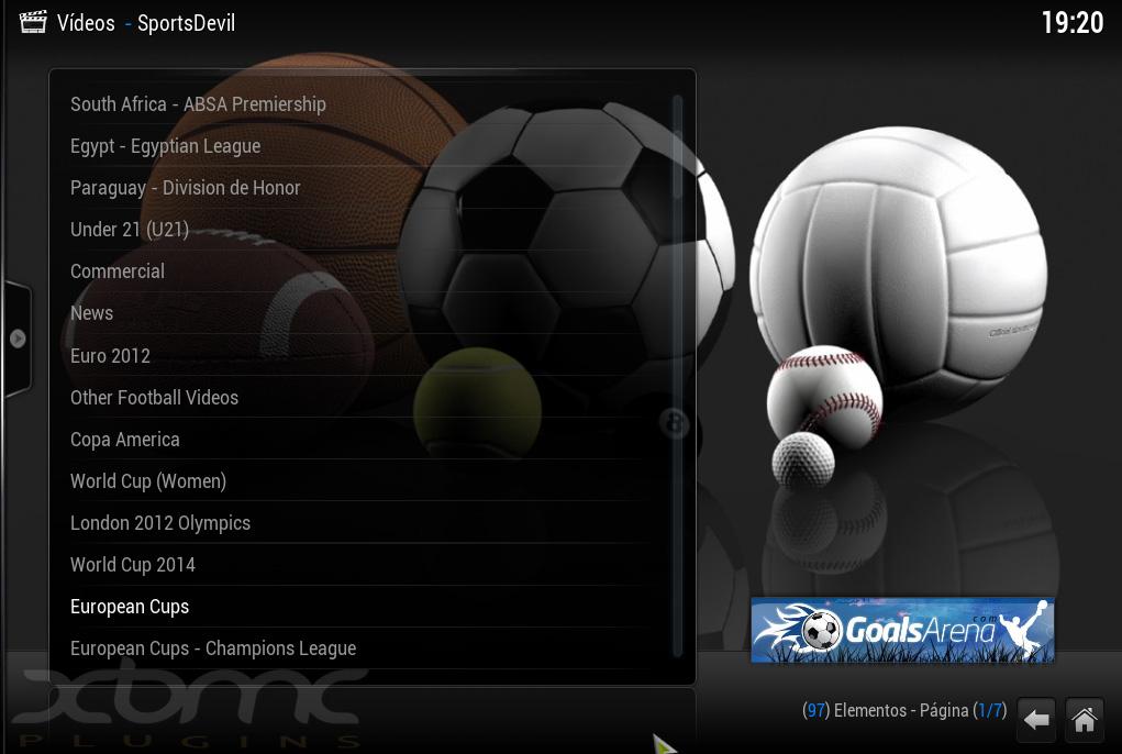 "SportsDevil 1.8.5.3 : Completo ""Addon Deportivo"" para XBMC"