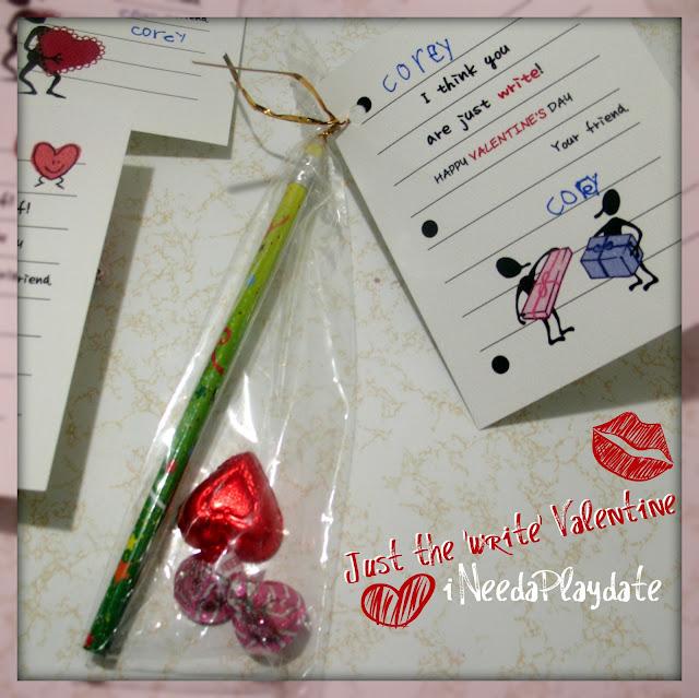 Just the write kind of valentine free printable