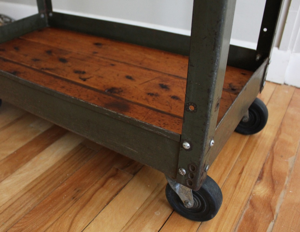 Blue Lamb Furnishings Reclaimed Wood Bar Cart Sold